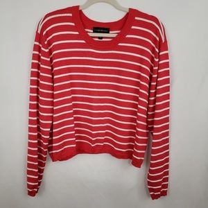 Lane Bryant Striped Cropped Sweater Size 18/20